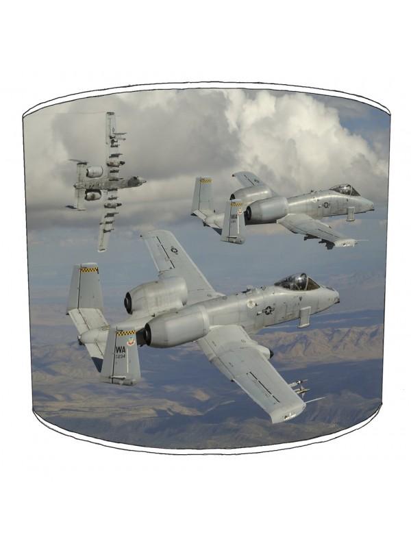 a- 10 thunderbolt warthog jet aircraft lampshade