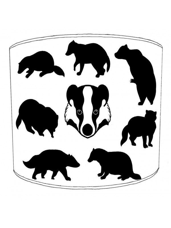 badgers silhouette lampshade