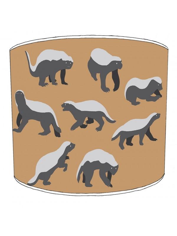 badgers lampshade 11