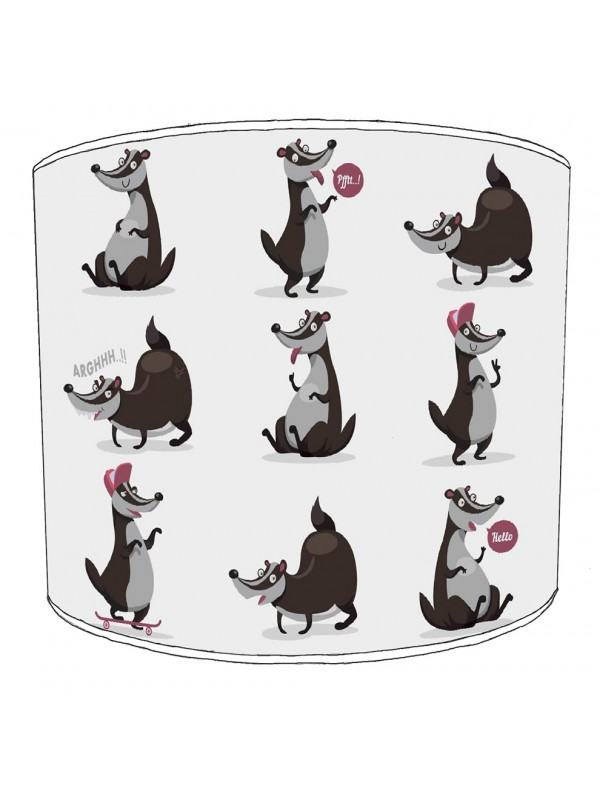 badgers lampshade 13
