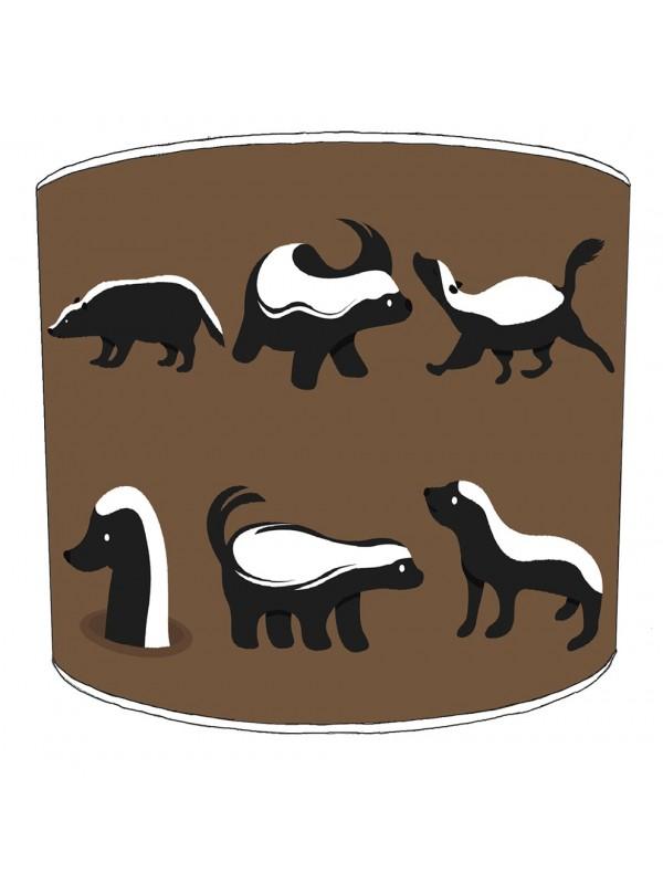 badgers lampshade 20