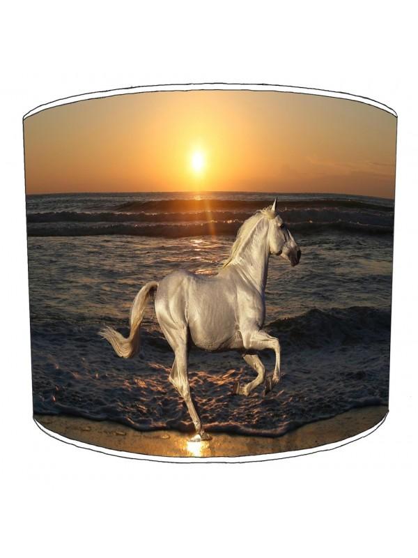 running horse sunset lampshade