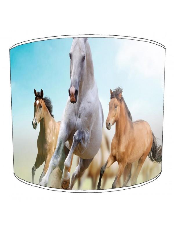 galloping horses lampshade
