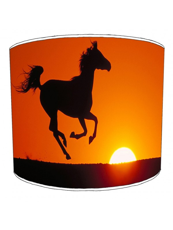 horse sunset lampshade