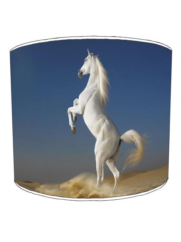 desert white horse lampshade