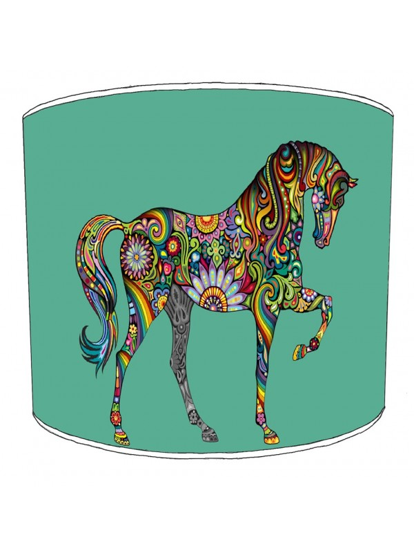 colurful horse lampshade