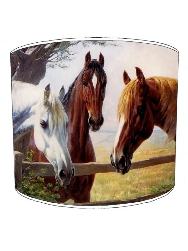 three horses lampshade