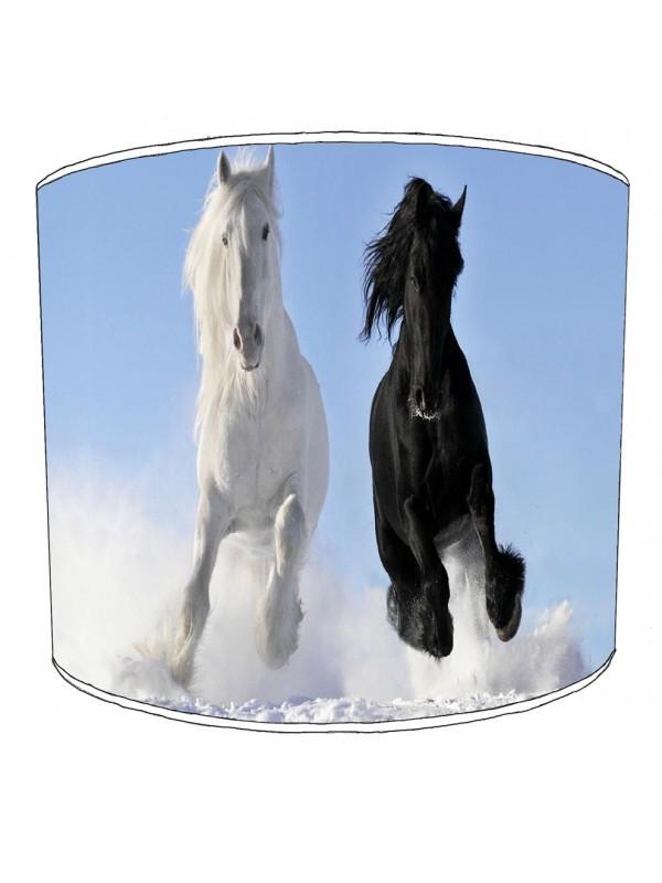 running horses lampshade