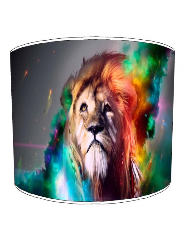 lion art lampshade