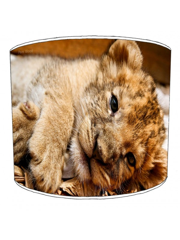 cute lion cub lampshade