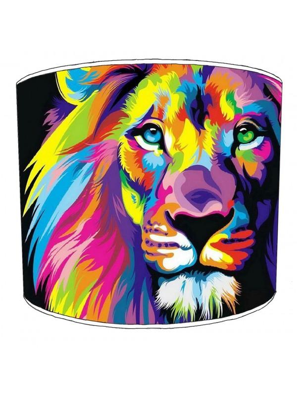 retro lion lampshade
