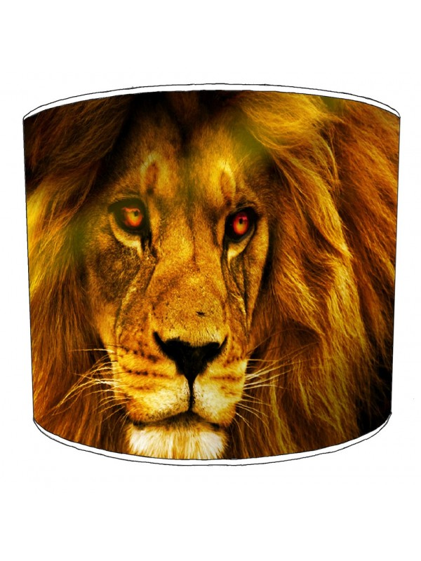 lion close up lampshade