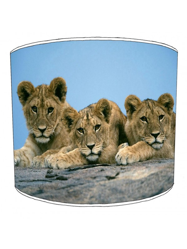 lion cubs lampshade
