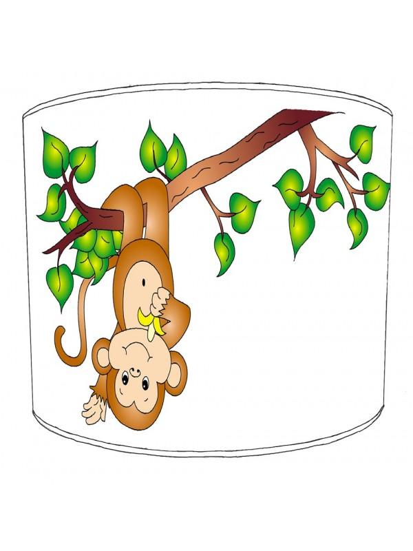 upside down monkey lampshade