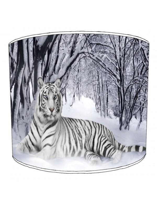 white tiger winter lampshade