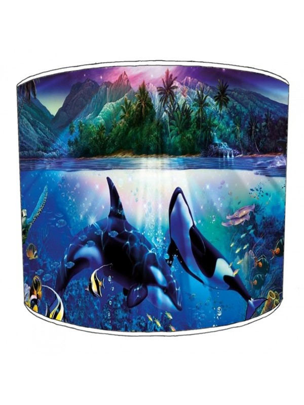 whale print lampshade 1