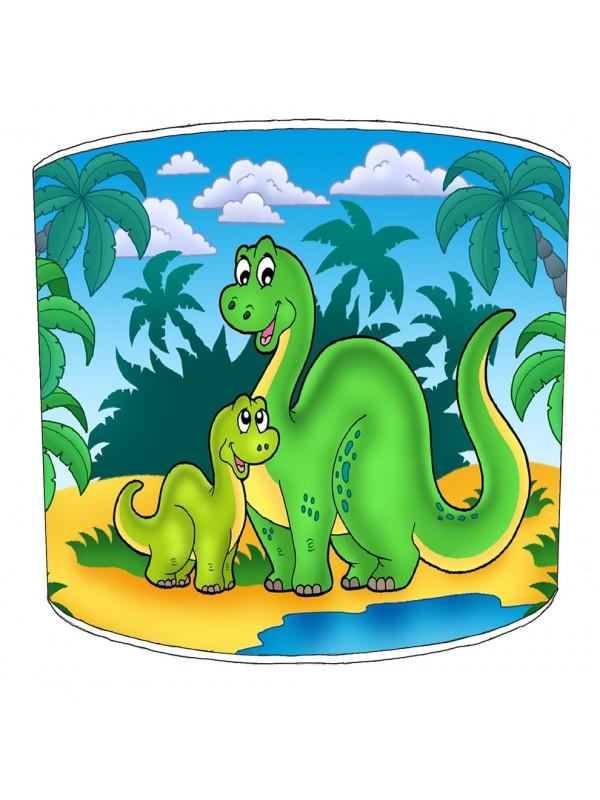 green dinosaurs lampshade