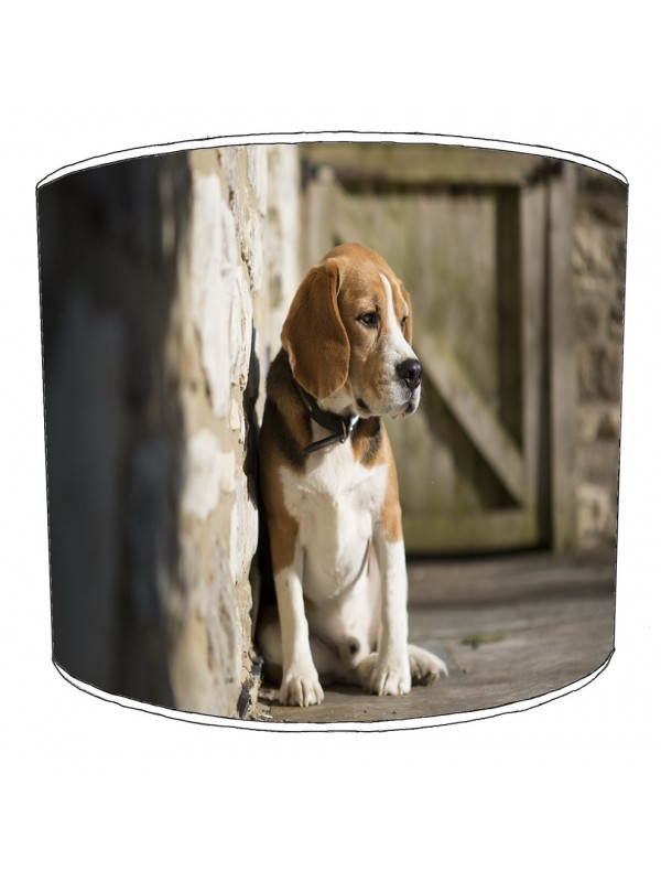 beagle dog print lampshade 1