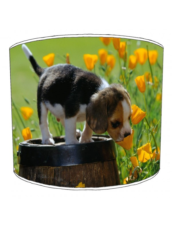 beagle dog print lampshade 10