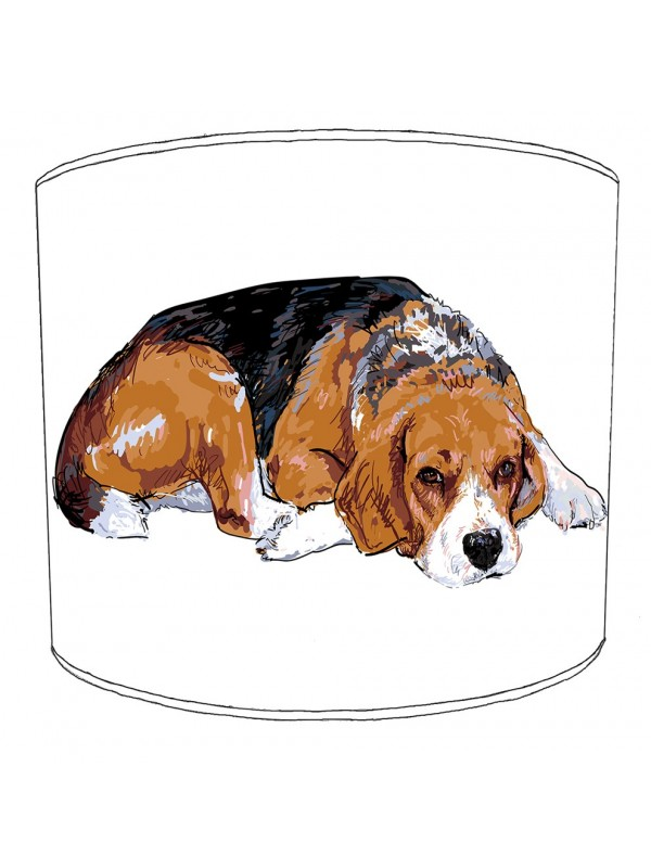 beagle dog print lampshade 12
