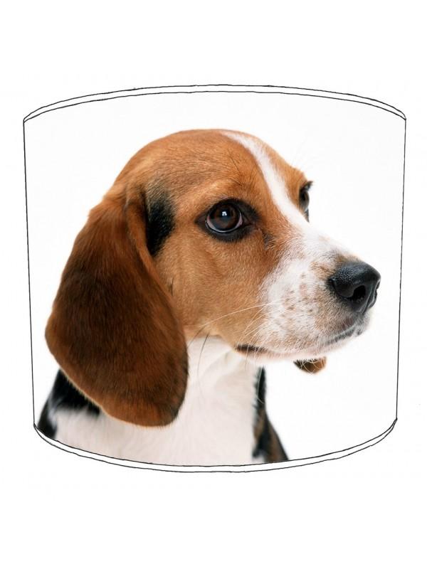 beagle dog print lampshade 2