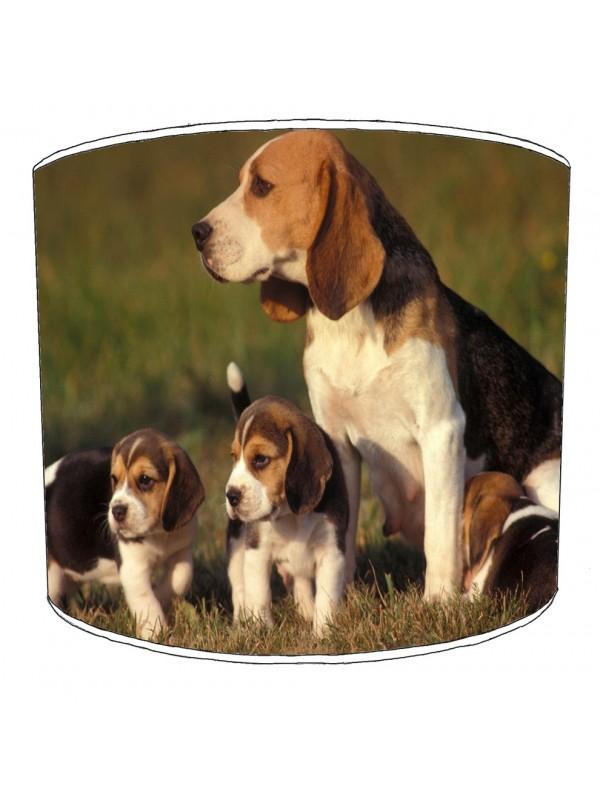 beagle dog print lampshade 8