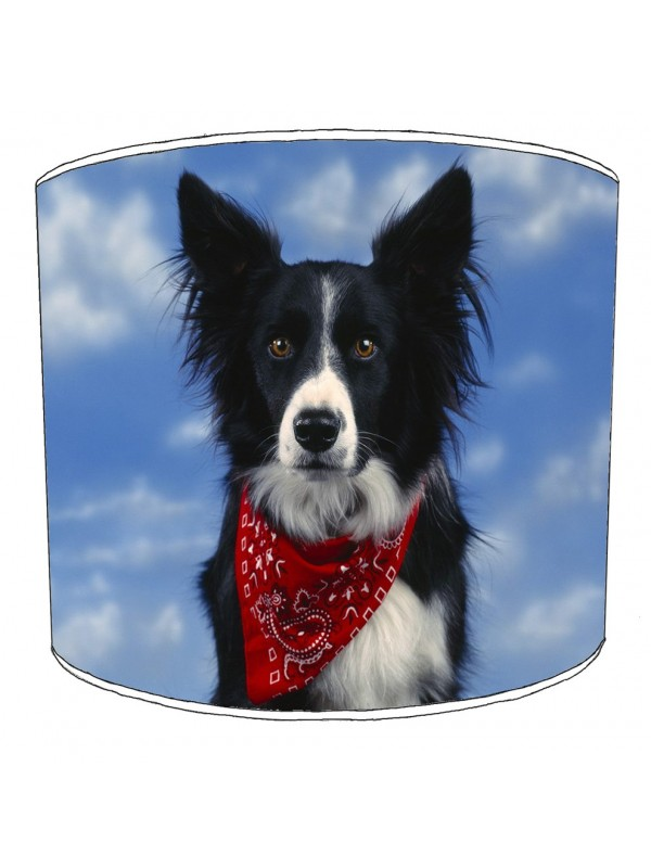border collie print lampshade 1