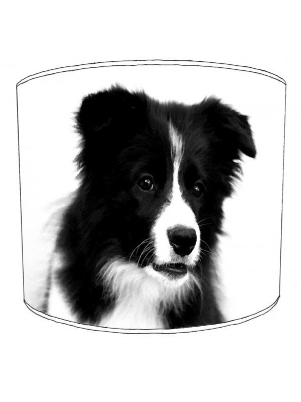 border collie print lampshade 3