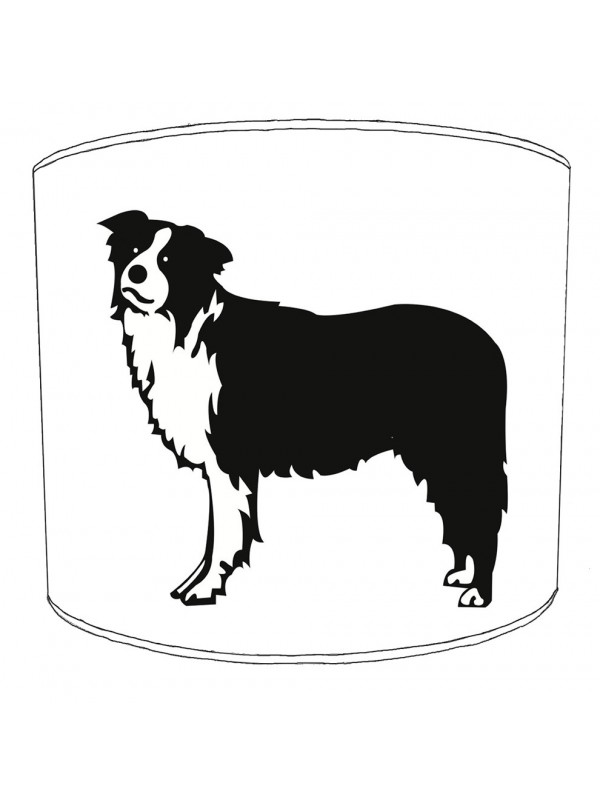 border collie print lampshade 4