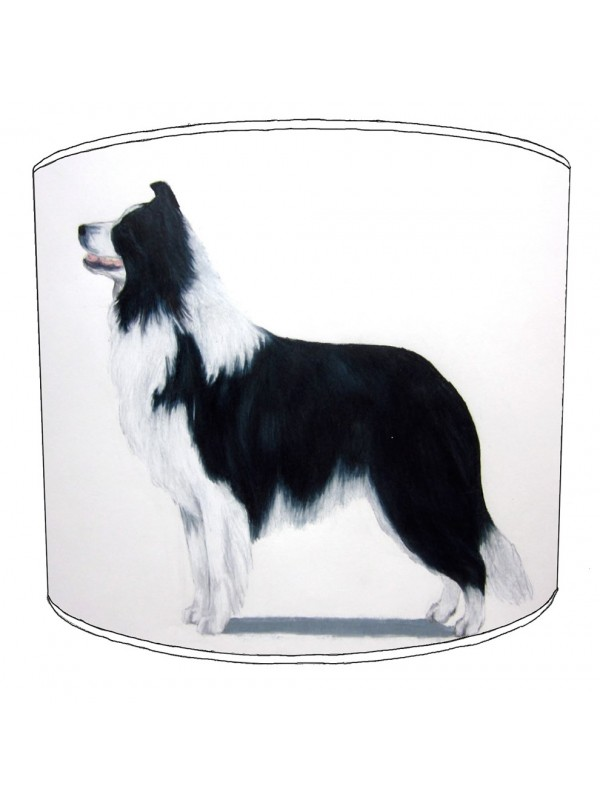border collie print lampshade 8