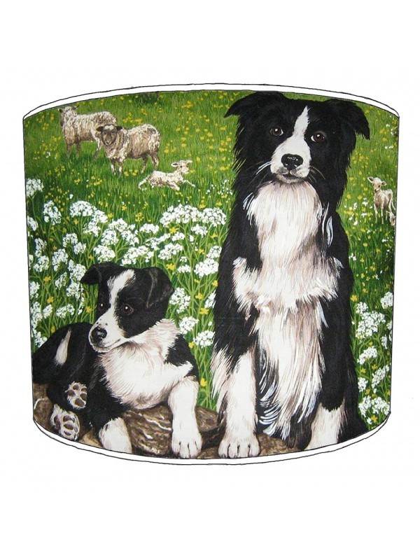border collie print lampshade 9