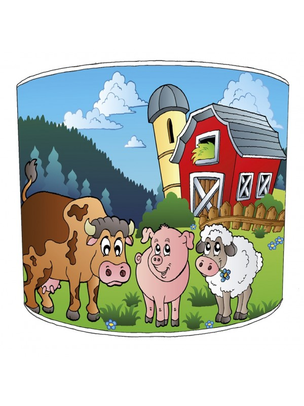 farm yard lampshade 6