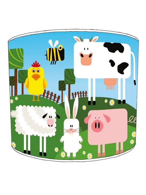 farm yard lampshade 8