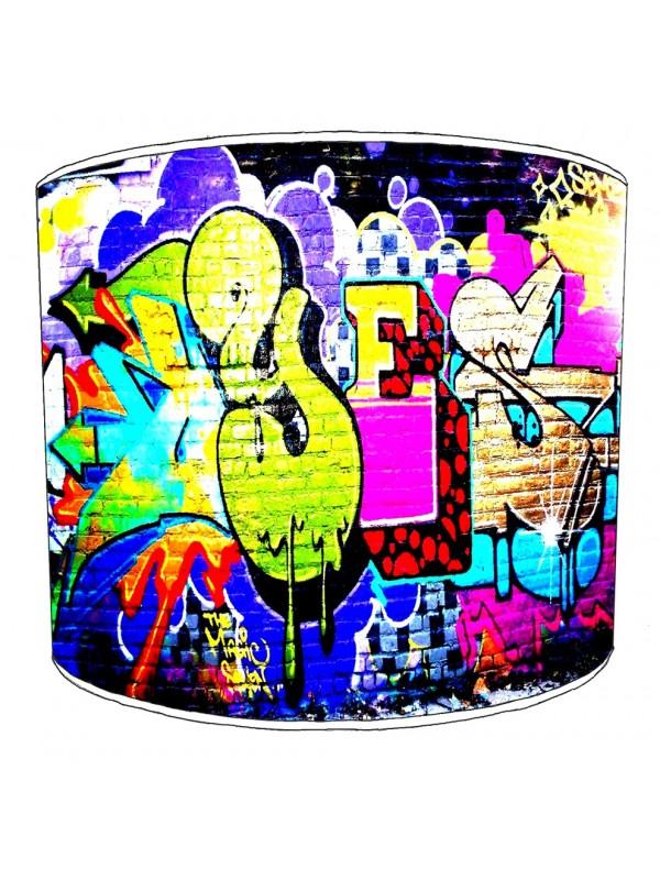 graffiti street art lampshade 7