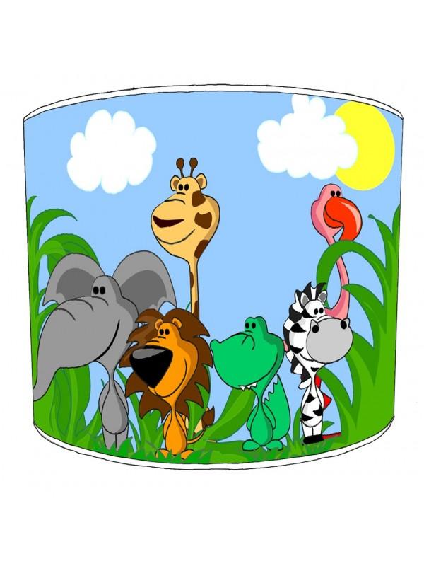 jungle animals cartoon lampshade