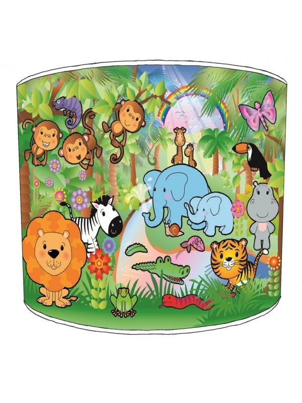 jungle animals nursery lampshade