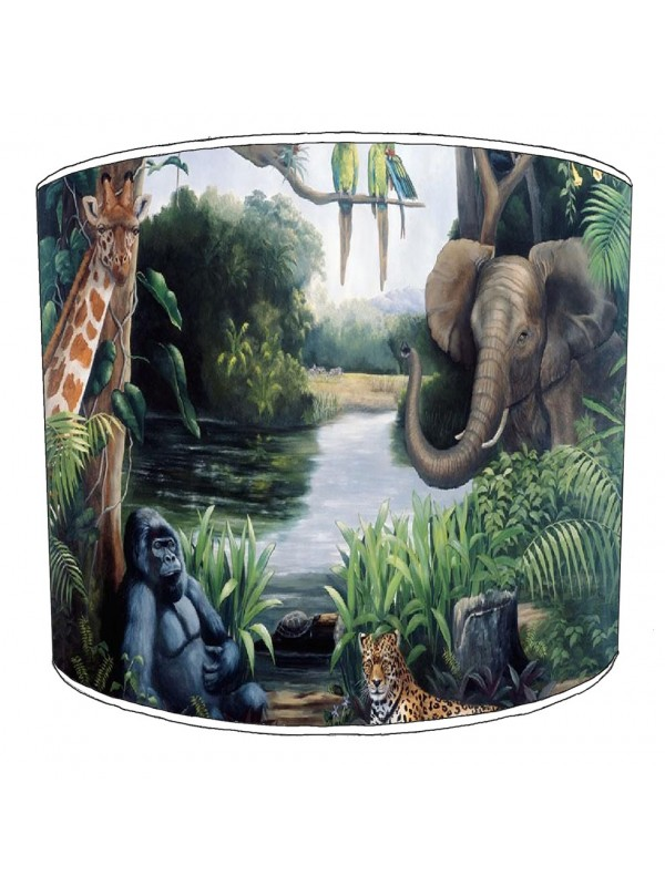 jungle friends lampshade