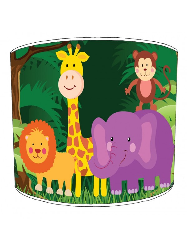 jungle animals lampshade 18