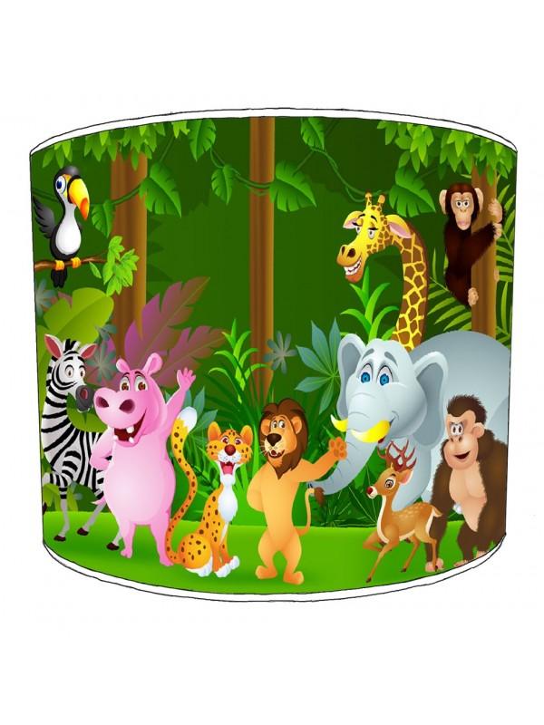 waving lion jungle lampshade