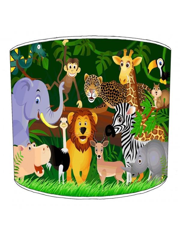 jungle animals lampshade 4