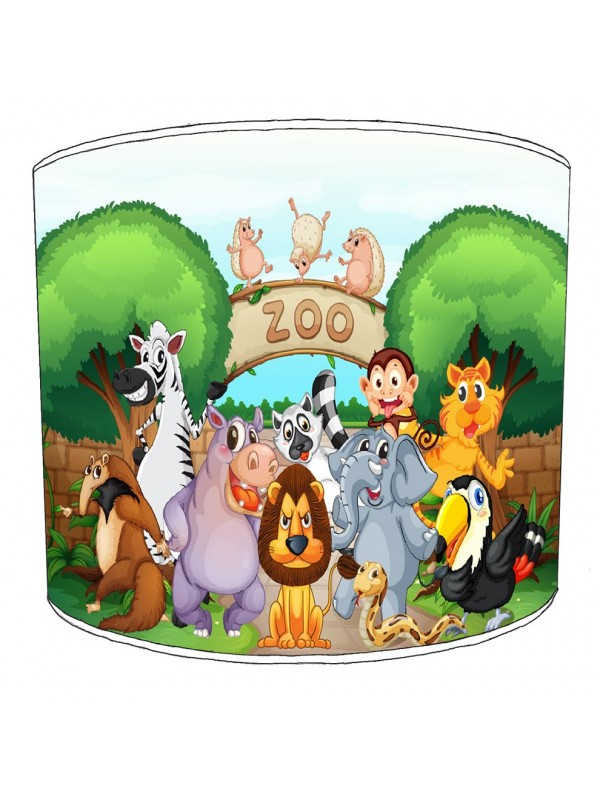 welcome to the zoo lampshade