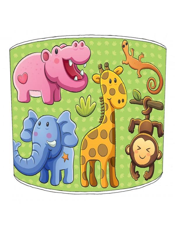 nursery jungle animals lampshade