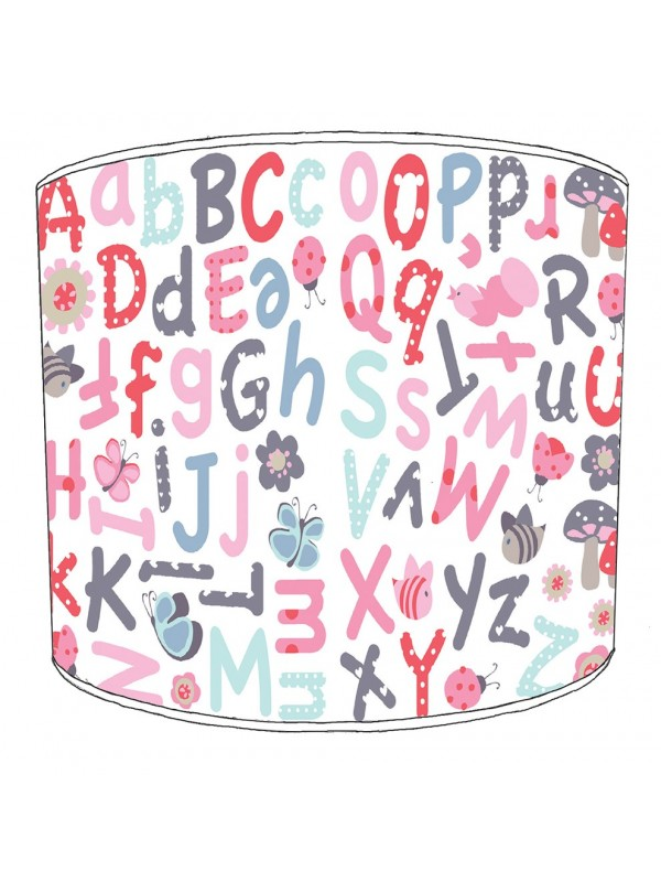alphabet butterfly lampshade