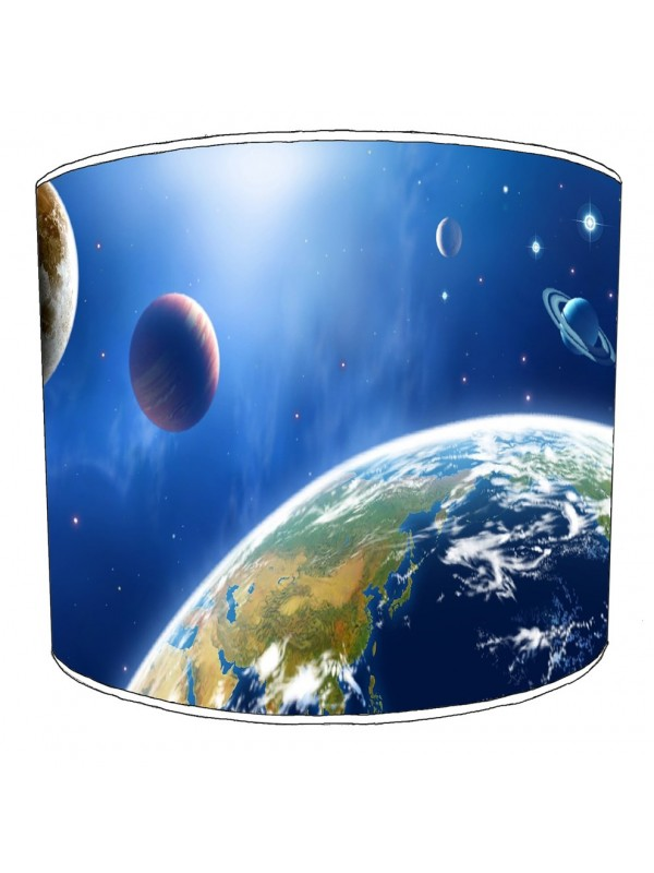 space solar system lampshade 1