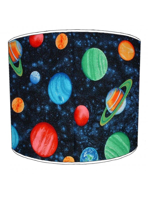 colourful solar system lampshade