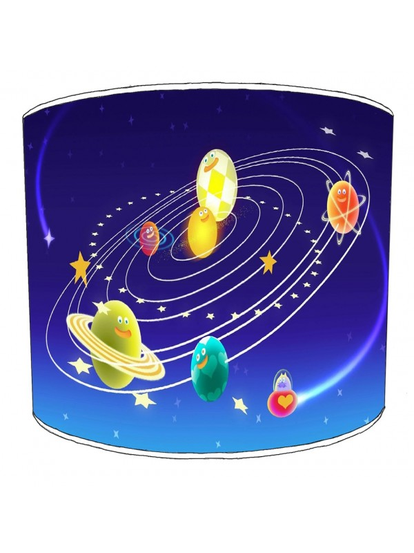 space solar system lampshade 5