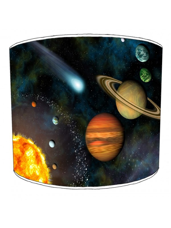 space solar system lampshade 8