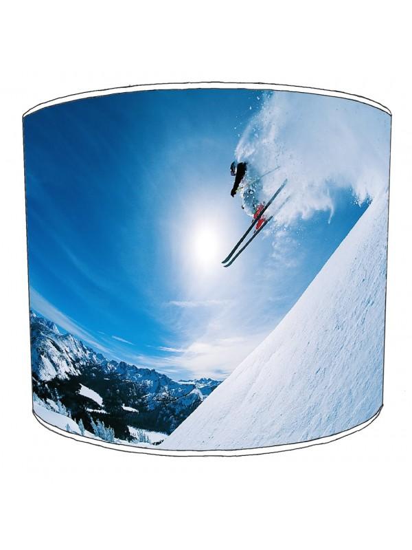 skiing snowboarding lampshade 1