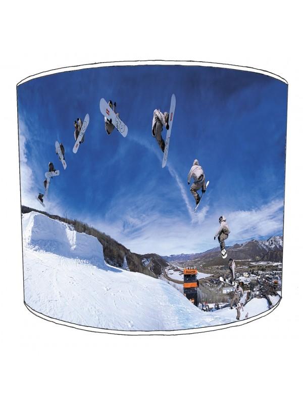 skiing snowboarding lampshade 12
