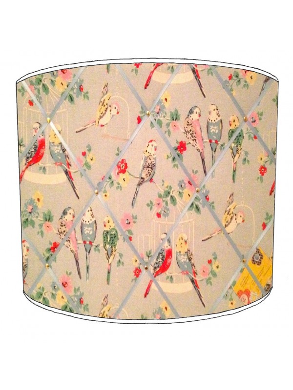 budgies lampshade 11